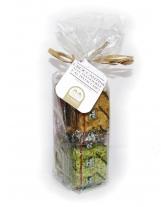 Almond and pistachio crisps bag