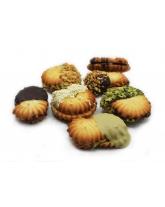 biscotti farciti misti al cioccolato e al pistacchio